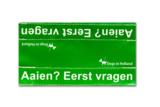 Medium waarschuwingssleeve groen   Aaien? Eerst vragen_