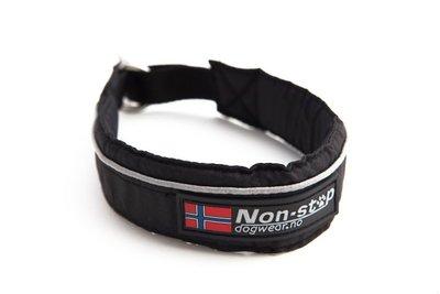 Non-Stop Halve Slip Halsband | Zwart, mt 60
