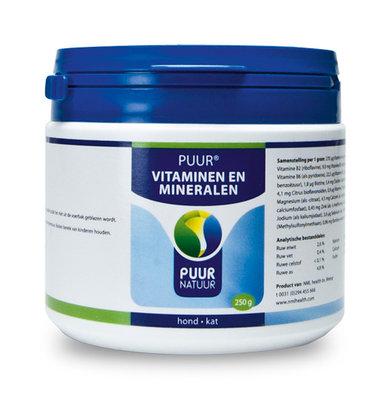 PUUR Vitaminen en mineralen, 250 gram | Hond - Kat
