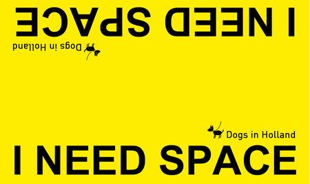 Grote waarschuwingssleeve geel | I NEED SPACE