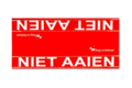 Grote waarschuwingssleeve rood | Niet aaien