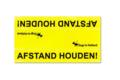 Medium waarschuwingssleeve geel | Afstand houden