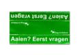 Medium waarschuwingssleeve groen | Aaien? Eerst vragen
